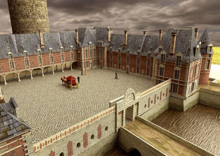 Château de Selles sur Cher modélisé pour la visite 3D