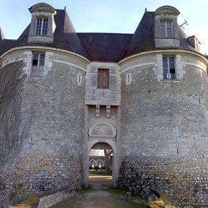 Château de Selles sur Cher, vue ouest du château médiéval.