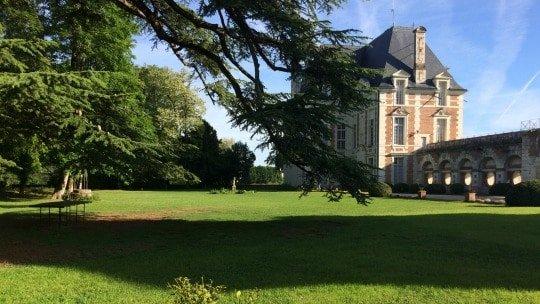 Château de Selles sur Cher vue du pavillon Béthune depuis le cèdre