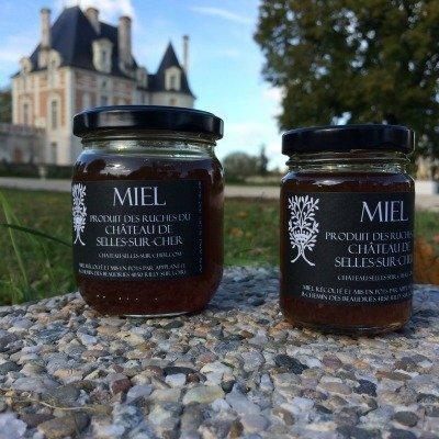 Miel du château de Selles sur Cher, mis en pots