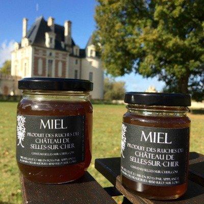 Deux pots de miel du château de Selles sur Cher