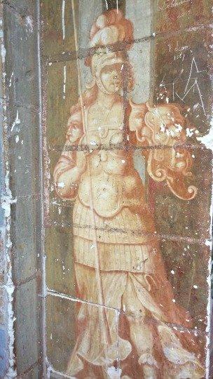 Peintures murales du XVIIe siècle situées dans les Pavillons Dorés du château de Selles sur Cher