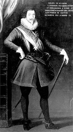 Portrait de Philippe de Béthune, en pied, que l'on peut voir dans le Pavillon Béthune.