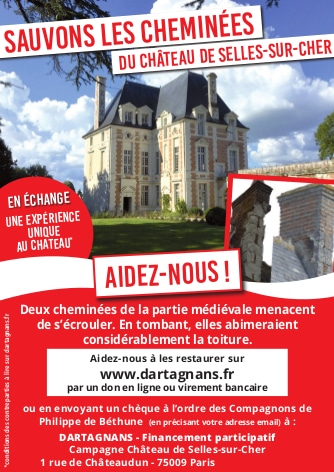 financement participatif château de Selles sur Cher