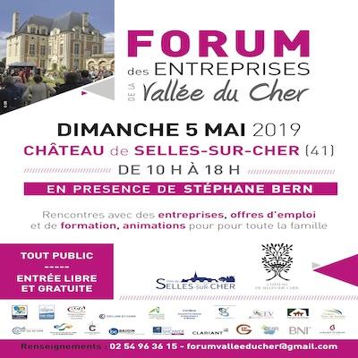 Affiche du forum des entreprises du 5 mai 2019 de 10h à 18h