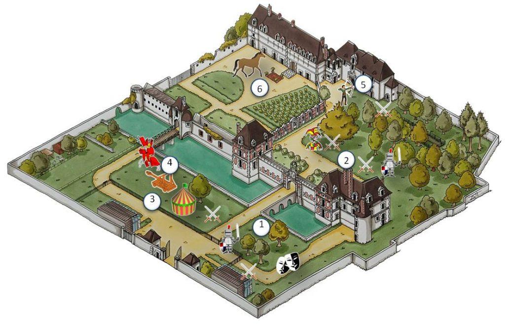 plan des animations de la fête médiévale au château de Selles sur Cher