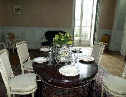 Salle à Manger château Selles sur Cher