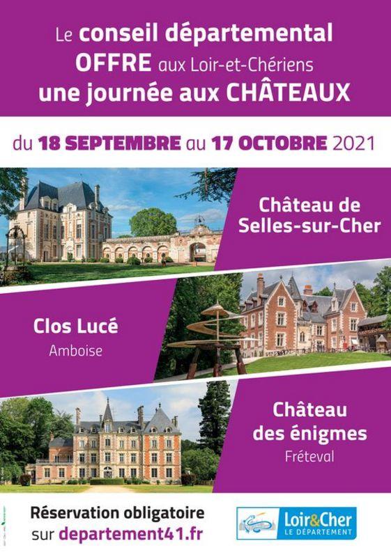 Visitez gratuitement le château de Selles sur Cher avec le Conseil départemental